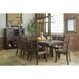 D633-35-01(6) Ashley Комплект (Стол обеденный раздвижной+6 стульев)***