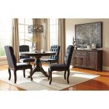 D658-50-02(4) Ashley Комплект (Стол обеденный раздвижной+4 стула)***