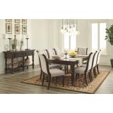 D697-35-04(8) Ashley Комплект (Стол обеденный раздвижной+8 стульев)***