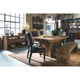 D775-25-02(4)-09(1) Ashley Комплект (Стол обеденный+4 стула+1 скамья)
