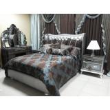 Hollywood Swank Aico Комплект (Кровать Queen Size+2 тумбы прикроватные