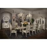 Monte Carlo II Silver Pearl Aico (Стол обеденный+6стульев) *