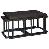 T394-1 Ashley  Комплект (Стол журнальный+ стол придиванный (табурет) 2шт)